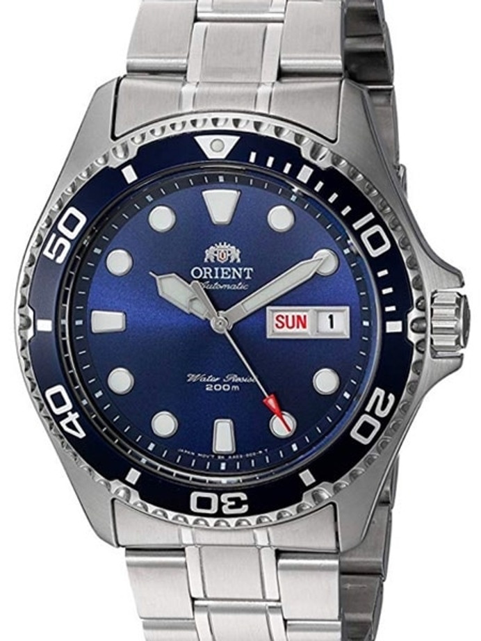 Customized Orient Ray II Blue Dial Automatic Dive Watch #AA02005D