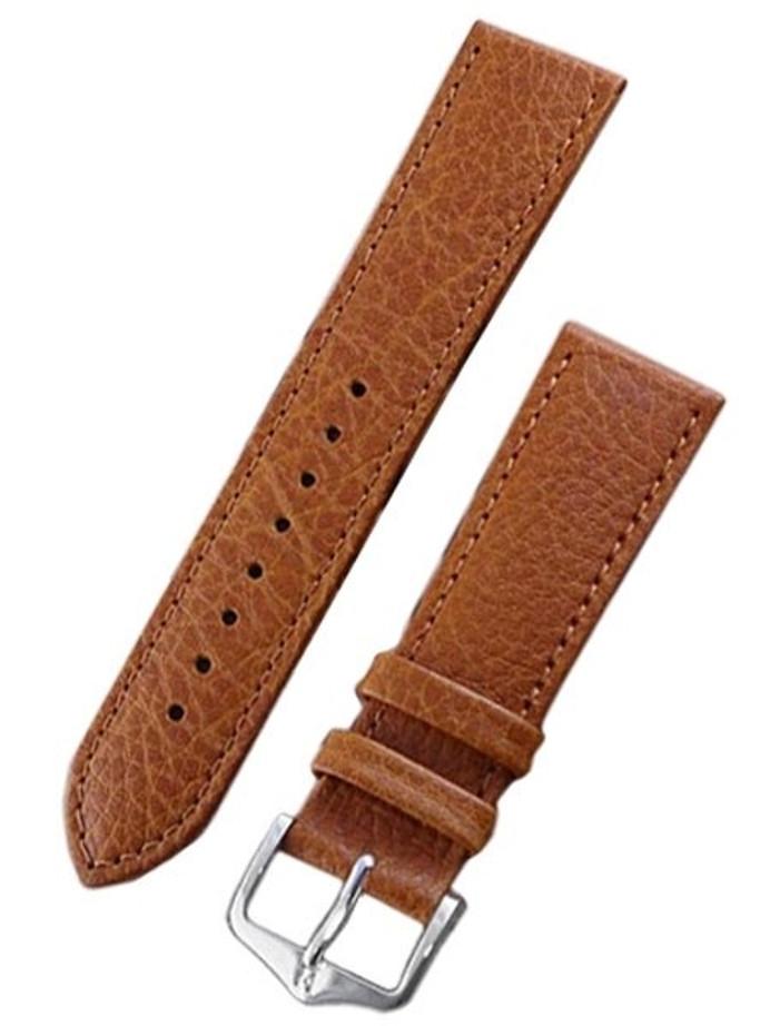 Hirsch Forest Gold Brown Soft Calf Leather Watch Strap #179202-70