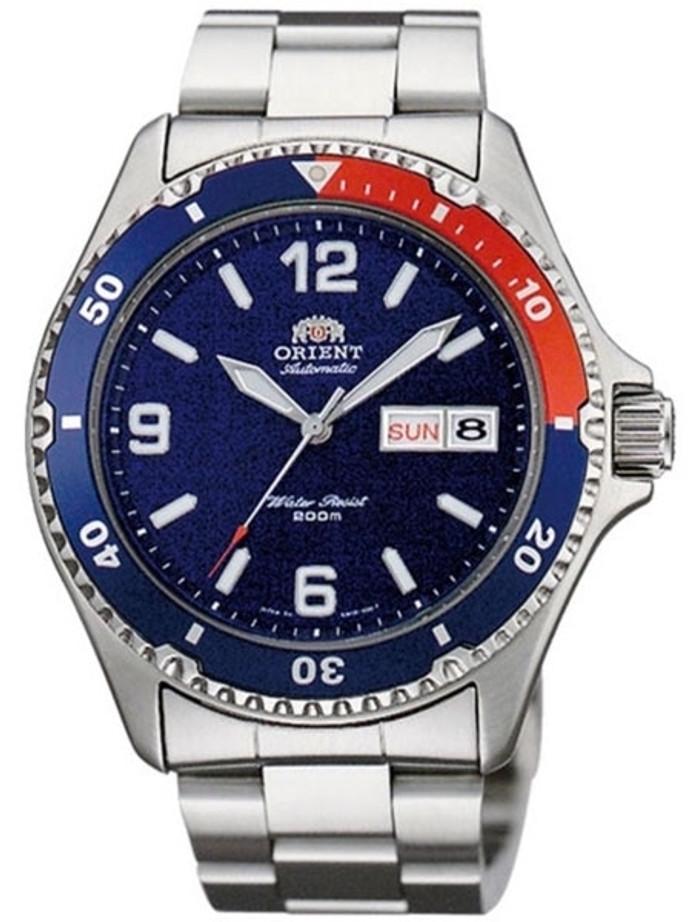 Custom Orient Mako II Pepsi-Style Automatic Dive Watch with SS Bracelet AA02009D