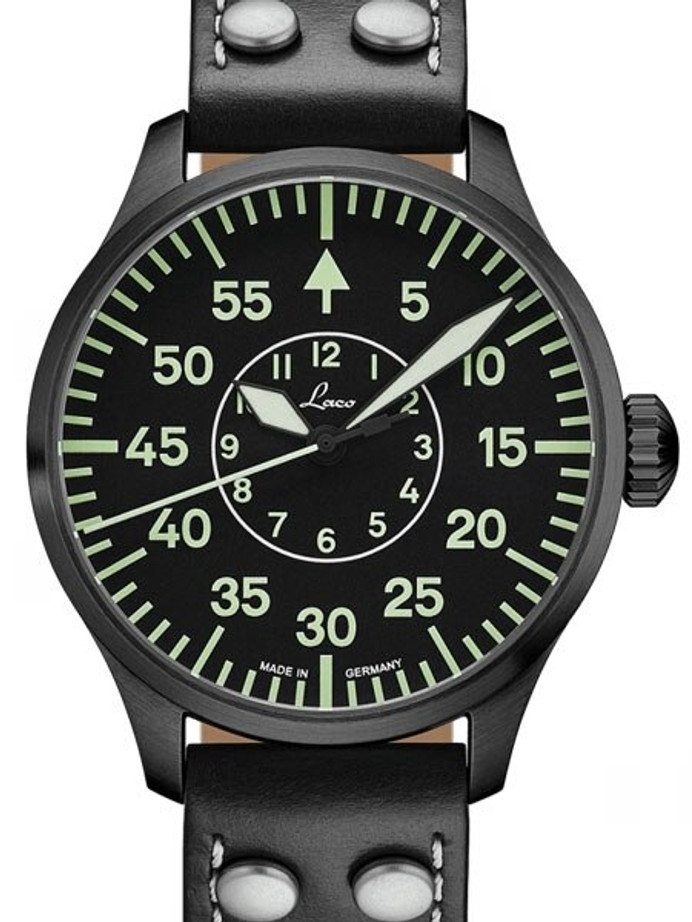 Laco Bielefeld Type B Dial Miyota Automatic Watch, Black Ion Case #861760