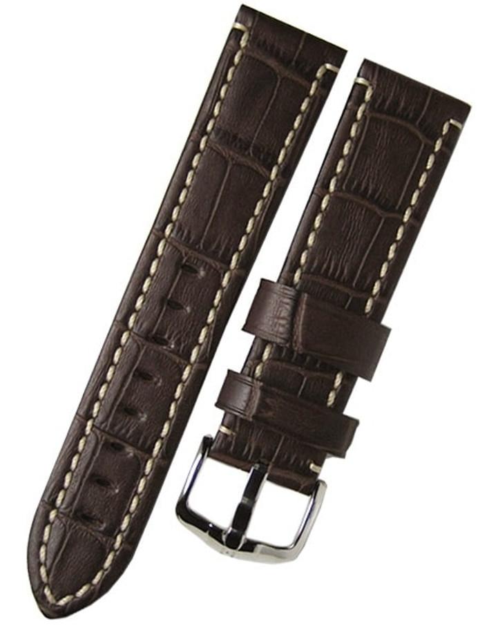 Hirsch Knight Brown Alligator Embossed Leather Watch Strap #109028-10