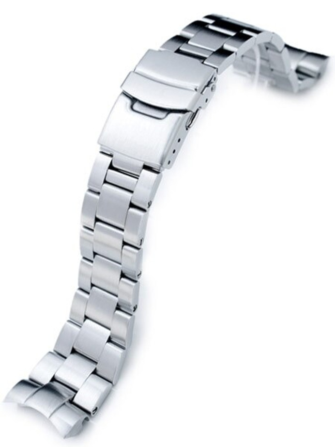 """Scratch and Dent - Strapcode 22mm Super-O """"Boyer"""" watch band for Orient Mako II and Ray II #SS221803B061"""