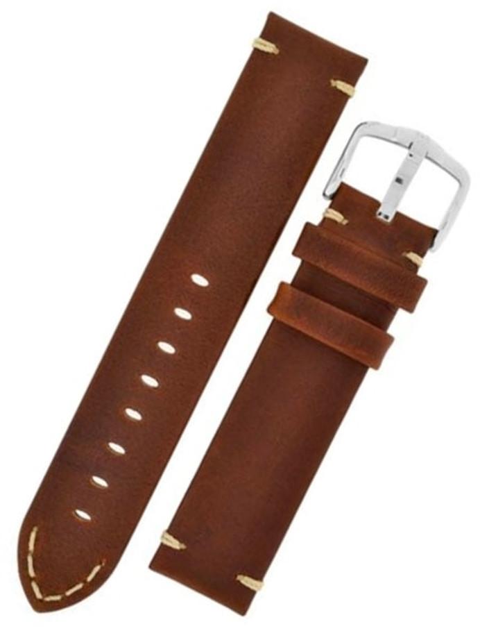 Hirsch Ranger Gold Brown Barrel-Dyed Leather Watch Strap #054020-70