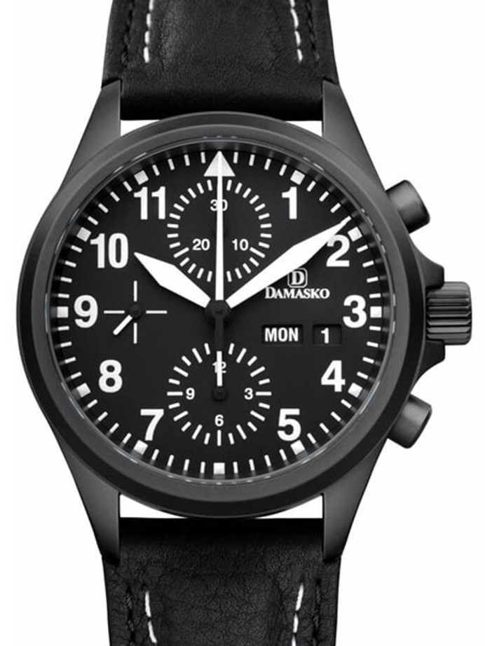Damasko Swiss Valjoux 7750 Chronograph with a 60-Minute Stopwatch and 12-Hour Totalizer #DC56BK