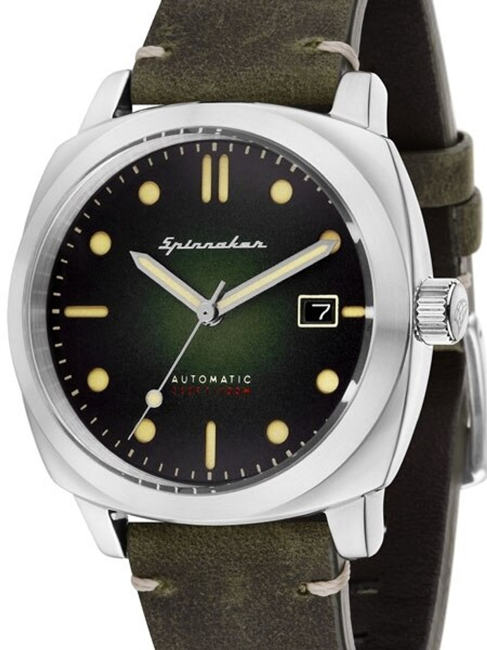 Spinnaker Hull Automatic Sports Watch with 42mm Case and Dark Green Dial #SP-5059-03