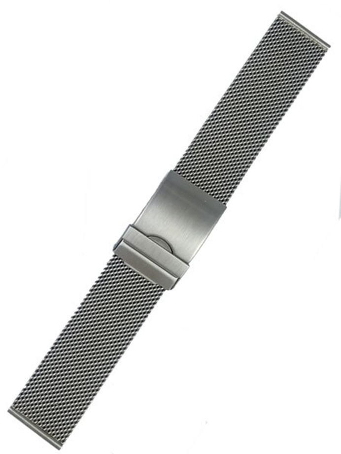 Vollmer Brushed Finish Mesh Bracelet with Adjustable Deployant Clasp #17012H7 (22mm)