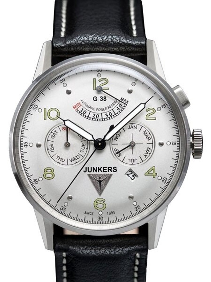 Scratch and Dent - Junkers G38 Automatic with Day, Date, Month and Power Reserve Indicator #6960-4