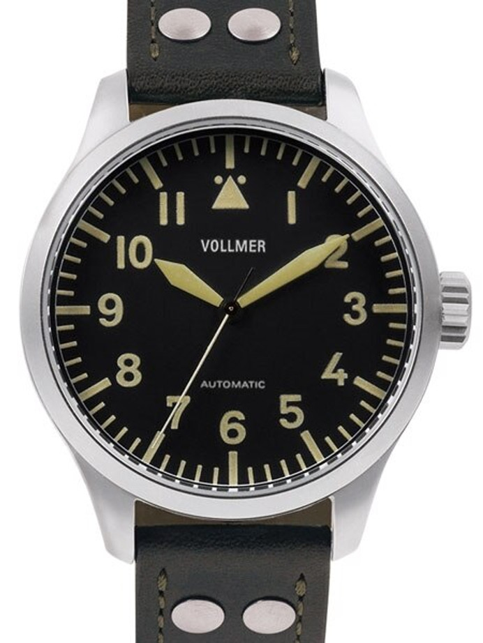 Vollmer Vintage Type A, 47mm Swiss Automatic Aviator Watch with Sapphire Crystal #V3H142
