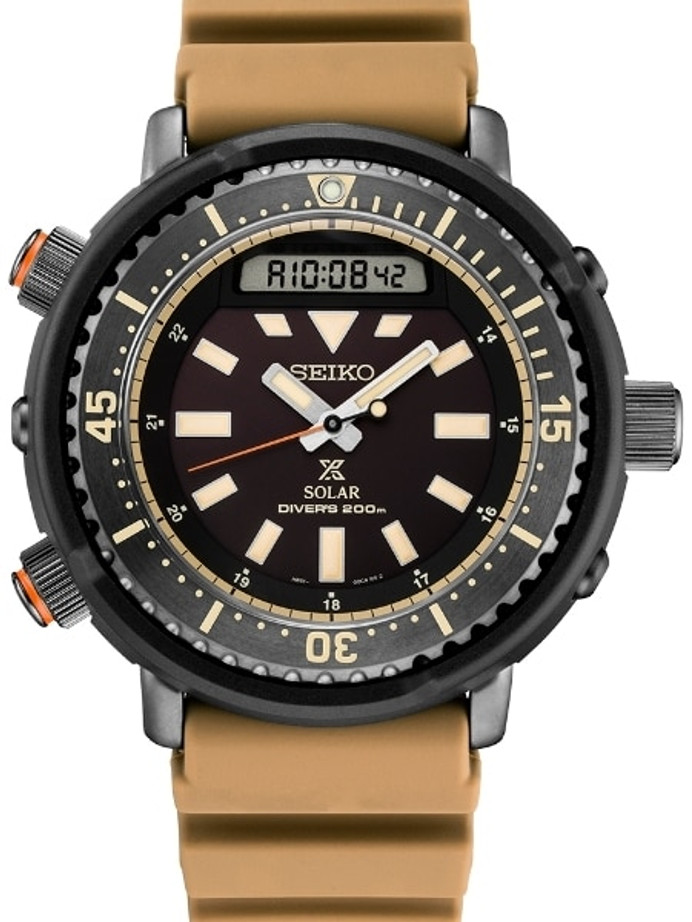 "Seiko ""Arnie"" Prospex Tuna Dive Watch with Solar Movement and 47.5mm Case #SNJ029"