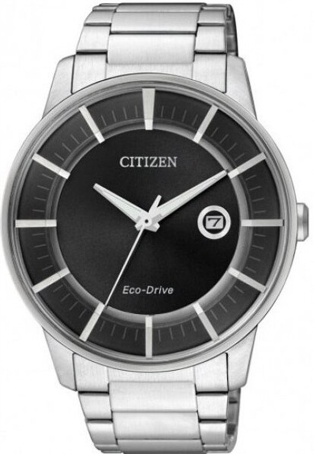 Citizen Eco-Drive Dress Watch with Black Dial and 7-Month Power Reserve #AW1260-50E