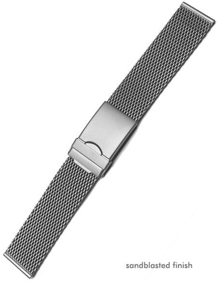 Vollmer Sand Blasted Mesh Bracelet with Adjustable Deployant Clasp #90460H3 (20mm)