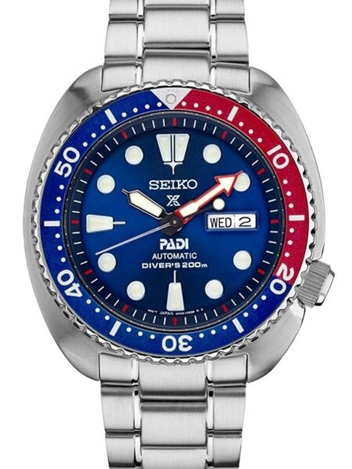Seiko Special Editon Prospex PADI Automatic Dive Watch with Stainless Steel Bracelet #SRPA21