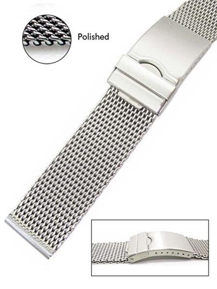 Scratch and Dent - Vollmer Polished Mesh Bracelet #99460H4S (Straight End, 20mm)