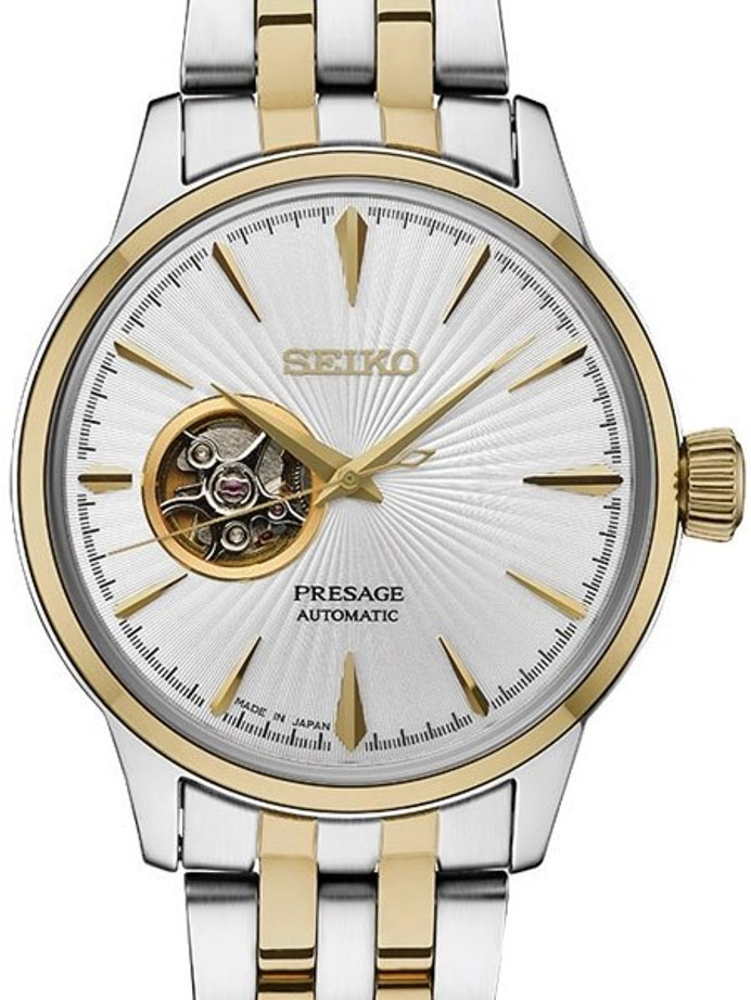 Seiko Presage Open-Heart, Cocktail Time Automatic Dress Watch with 40.5mm Case #SSA358