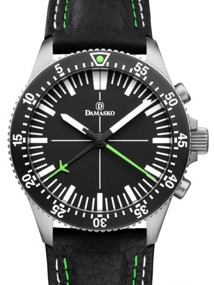 Damasko 42mm Chronograph, Green, with 60-Minute Stopwatch Function #DC80