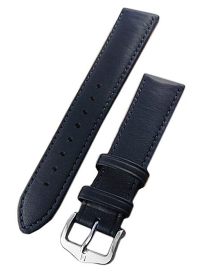 Hirsch Merino Black Nappa Sheep Leather Watch Strap #012060-50