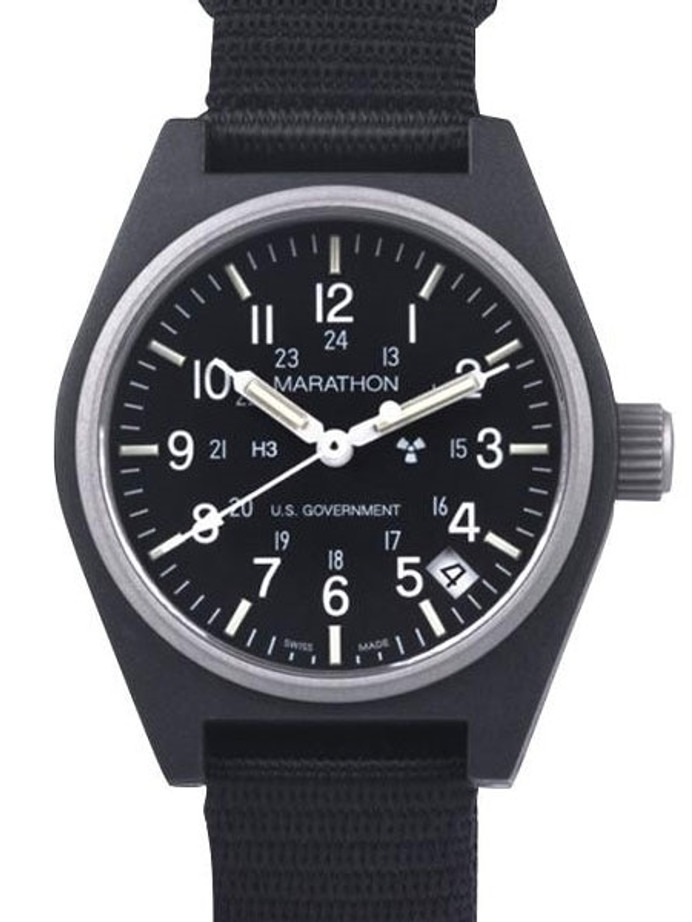 Marathon Swiss Made Quartz Military General Purpose Watch with Tritium Illumination #WW194015