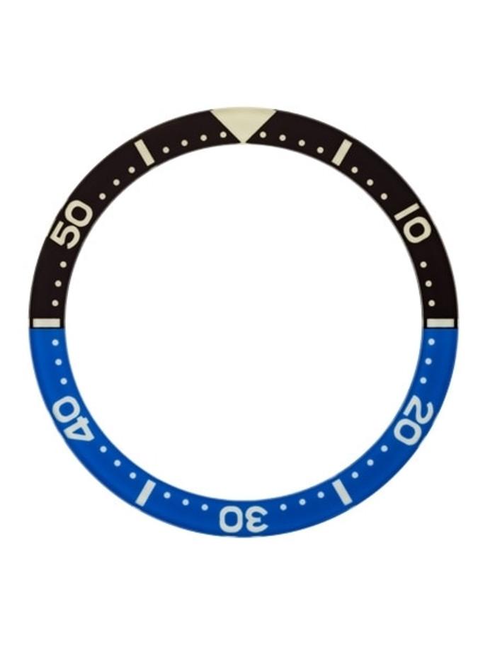 """Batman"" Luminous Sapphire Dive Bezel Insert for Seiko Turtle Watches #C34"