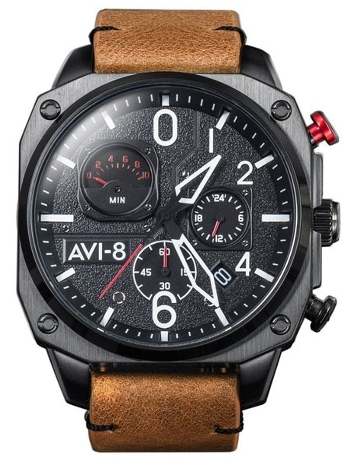 AVI-8 Hawker Hunter Retrograde Aviator Chronograph Watch #AV-4052-02