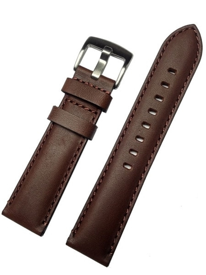 Horween Brown Calfskin Leather with Stainless Steel Buckle #INS-HOR-ESX02