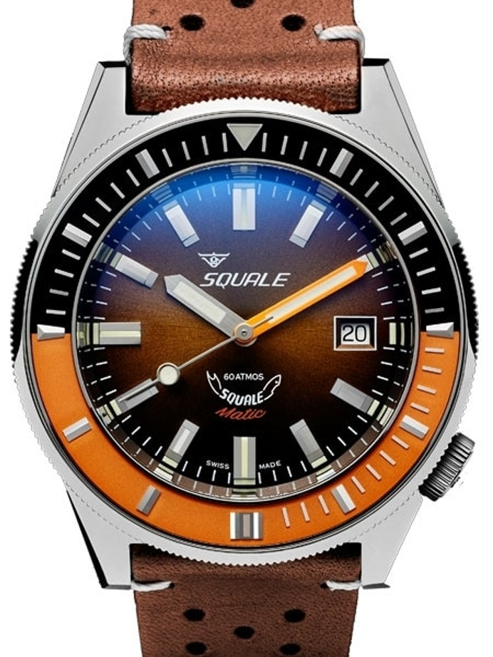 Squale Matic 600 meter Professional Swiss Automatic Dive watch with 44mm Polished Case #Matic-Choc-Pol