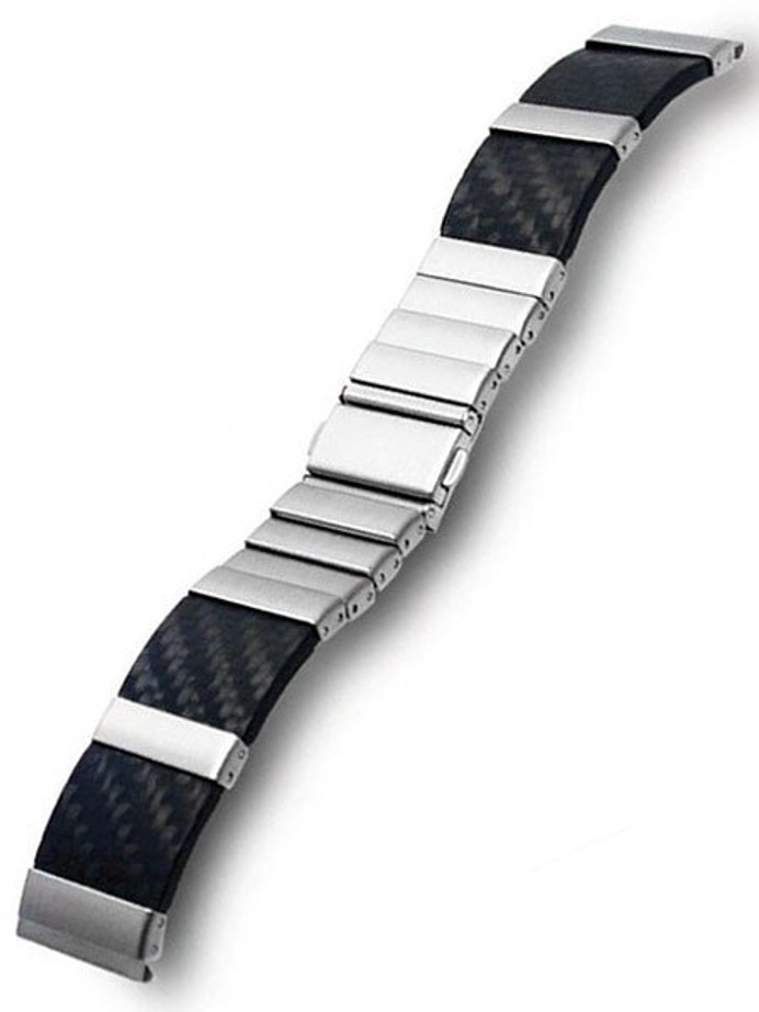 Vollmer Carbon Fiber and Stainless Steel Watch Bracelet #11032H7 (22mm)
