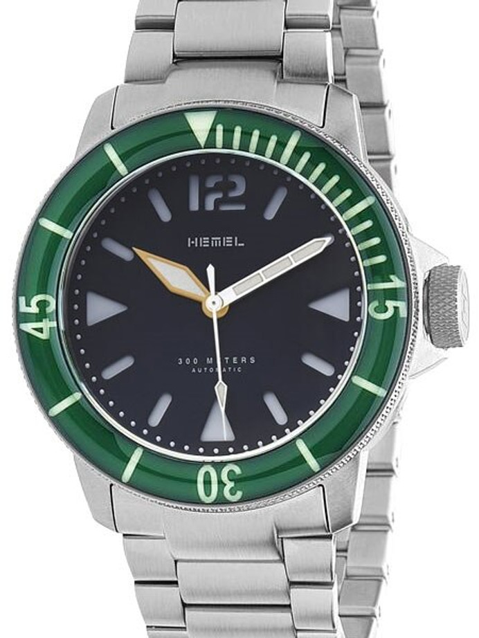 HEMEL 300-Meter Automatic Dive Watch with Luminous Bezel and AR Sapphire Crystal #HD1-03