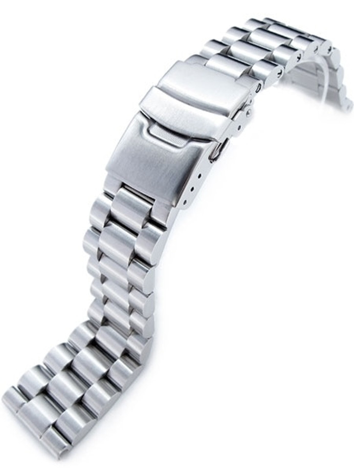 Strapcode 22mm Endmill Stainless Steel Watch Bracelet, Straight End #SS221803B033S