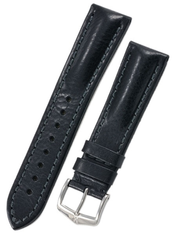 Hirsch Lucca Black Tuscan Leather Watch Strap #049020-50
