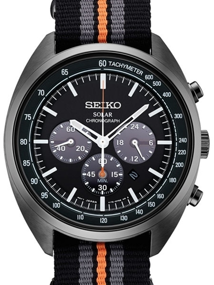Seiko Recraft Solar Quartz Chronograph with Stop-Watch and 24-hour Sub-Dial  #SSC669