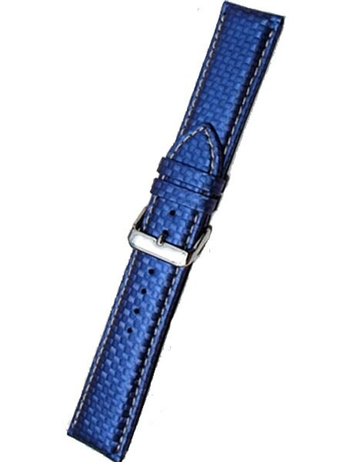 Blue Carbon Fiber Style with Heavy Padding, Contrast Stitching #RBV-WS
