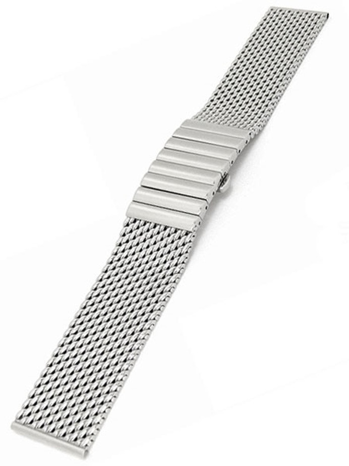 STAIB Satin Finish Mesh Bracelet #STEEL-2792-20043PBS-S (Straight End, 22mm)