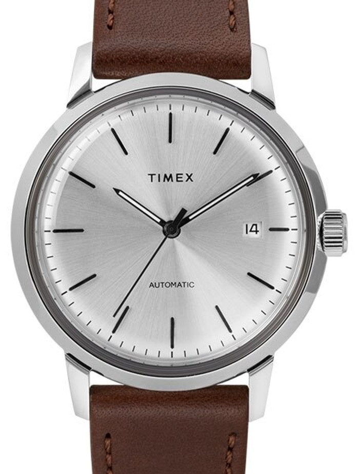 Timex 40mm Marlin 21-Jewel Automatic Watch with Silver Dial #TW2T22700ZV