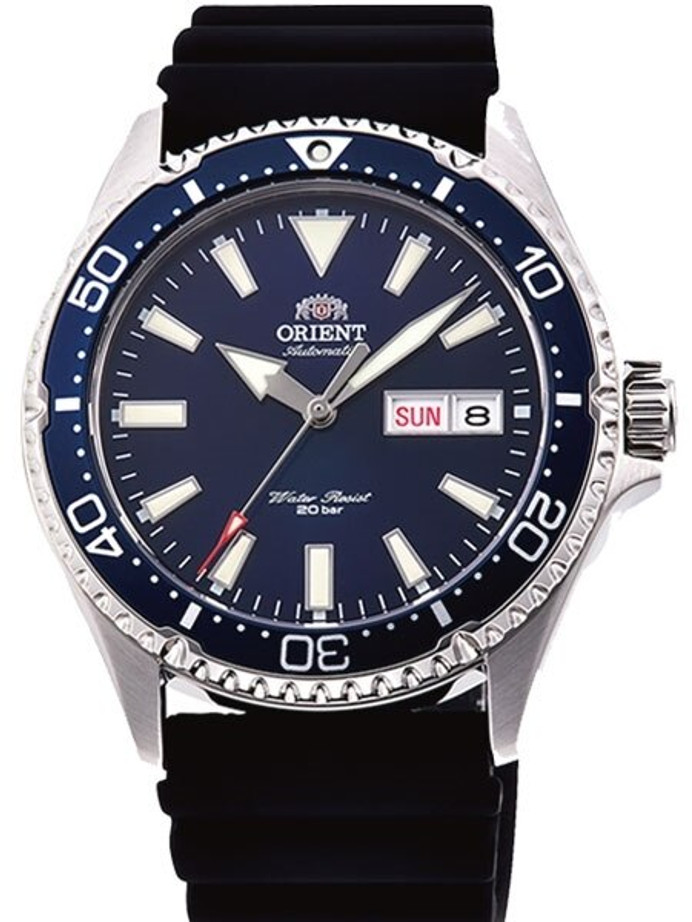 Orient Kamasu Blue Dial Automatic Dive Watch with Sapphire Crystal #RA-AA0006L19A