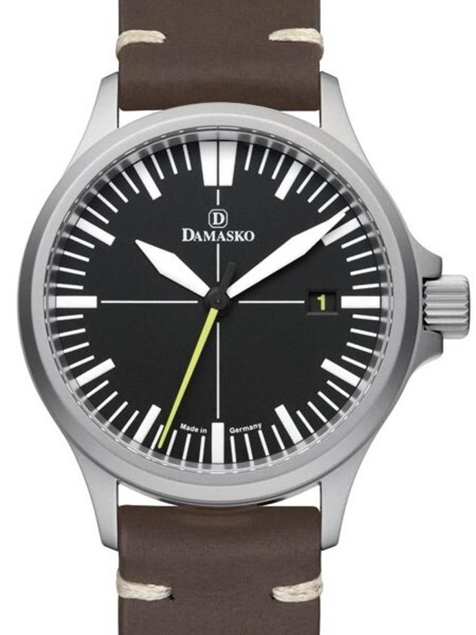 Damasko Swiss DS30 Yellow Automatic Watch with a 39mm Bead-Blasted Submarine Steel Case #DS30