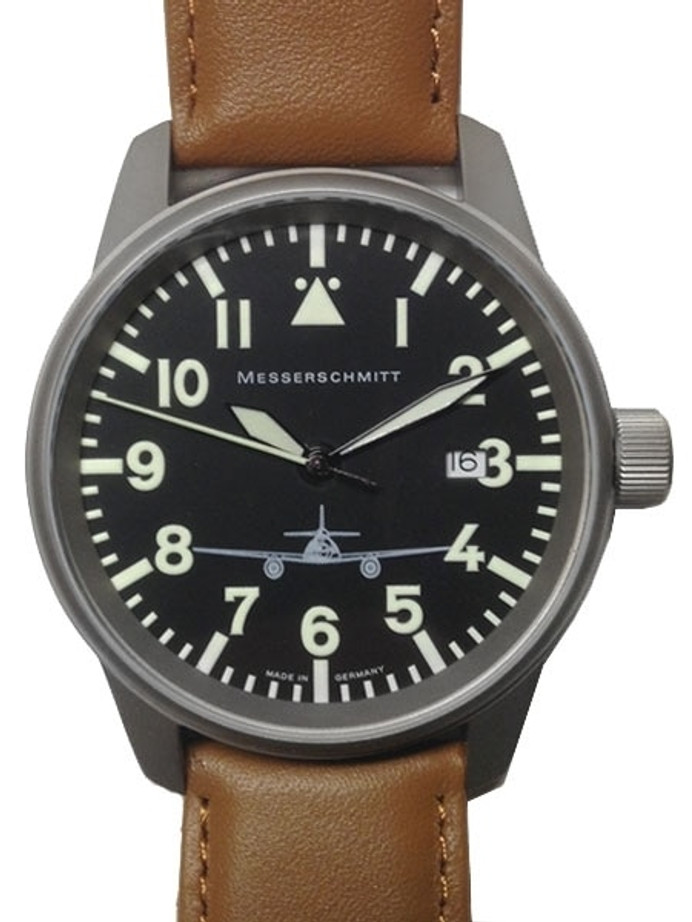 Messerschmitt 41mm Light Weight Titanium Case Pilot's Watch #ME262M