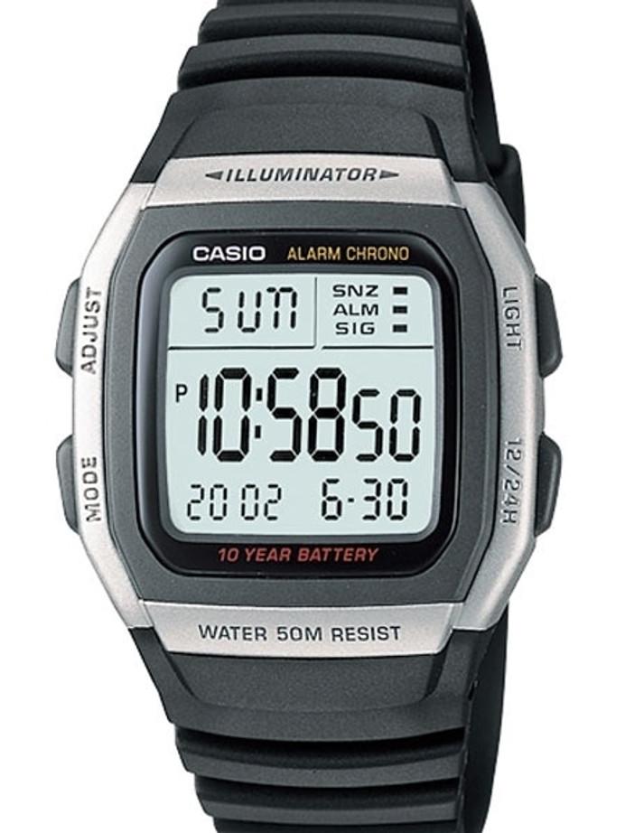 Casio Sport Illuminator Watch with Alarm, Dual Time and Stopwatch #W-96H-1AV