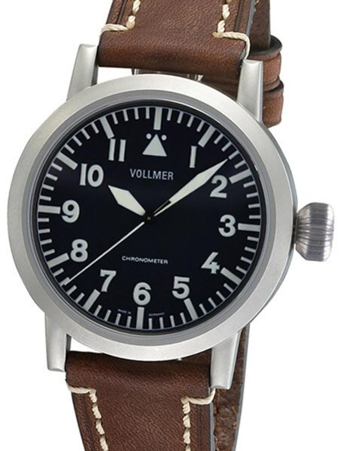 Vollmer V2 Vortac 44mm Swiss COSC Certified Chronometer on a Hirsch Liberty Strap