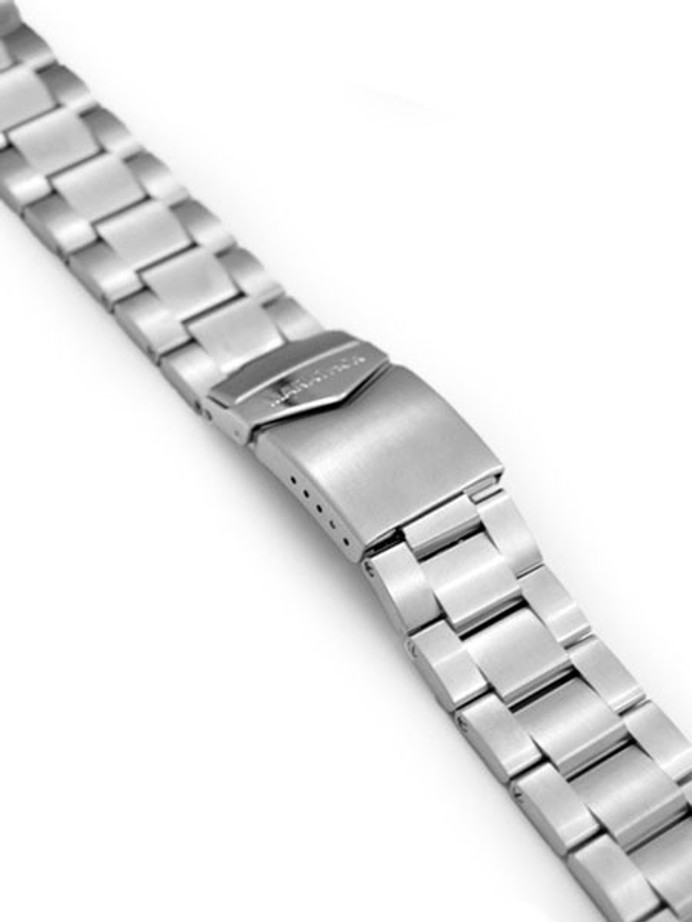 Marathon Brushed Finish Solid Link Bracelet #WW005016NM-A (18mm)