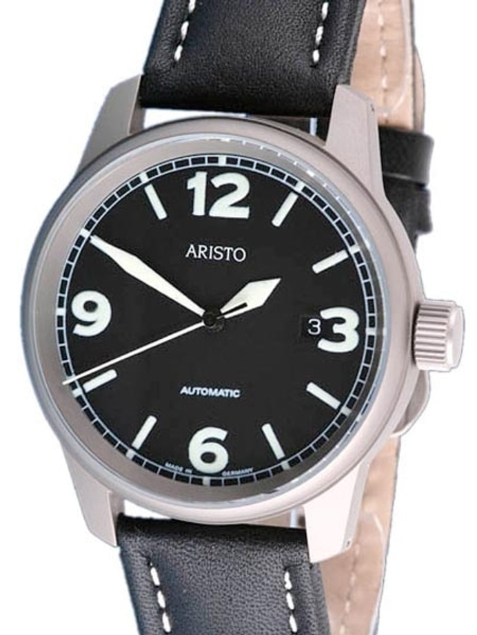 Aristo 5H67TI Titanium Case Swiss Automatic Aviator Watch