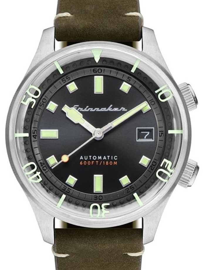 Spinnaker Bradner 42m Vintage-Style Automatic Sport Watch with a Luminous Bezel #SP-5062-02