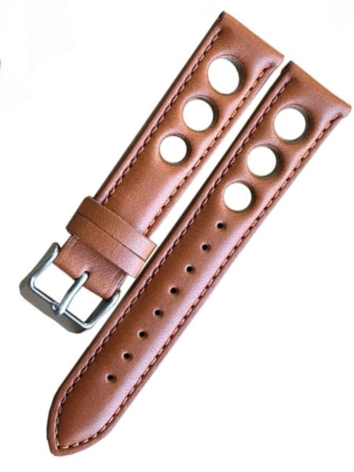 Horween Leather Rally Sport Strap with Stainless Steel Buckle #INS-HOR-Rally03