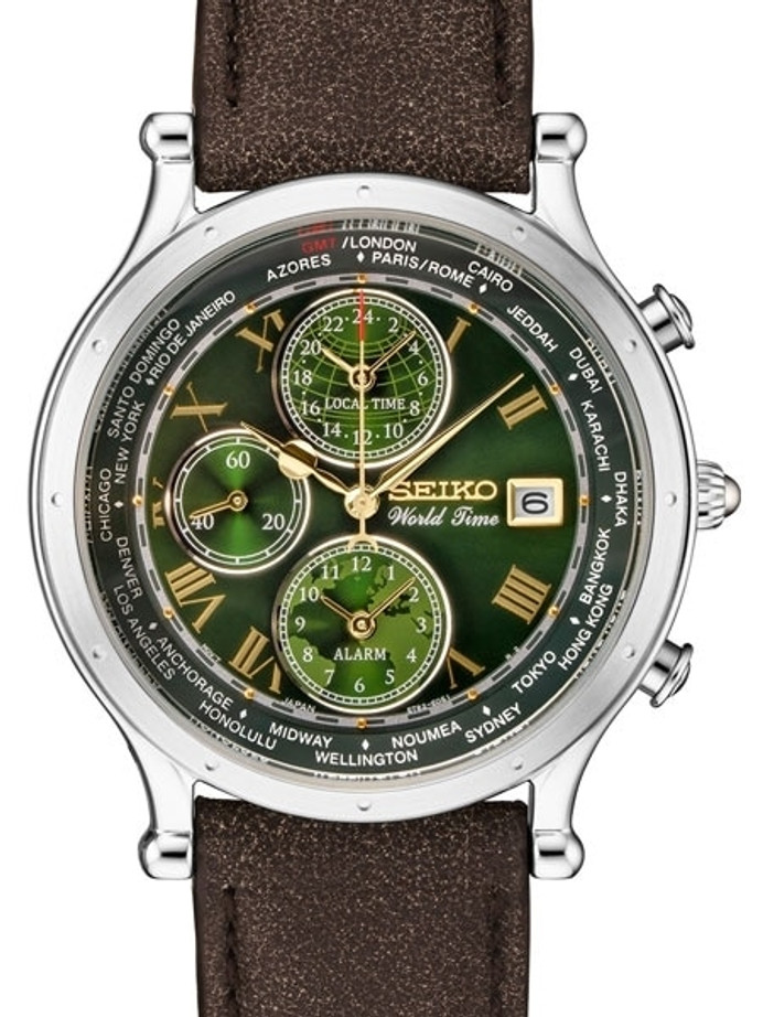 Seiko Age of Discovery, Limited Edition World Time Alarm Watch #SPL057