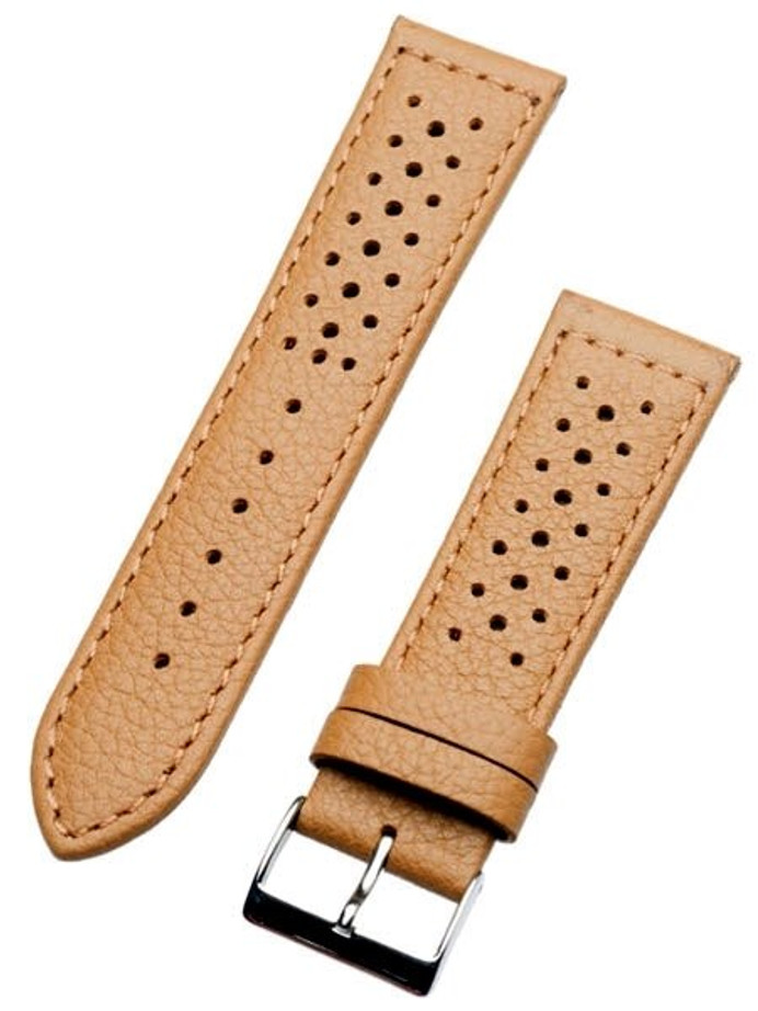 Toscana Racing-Style Tan Calf Leather Watch Strap SURB-H-78013