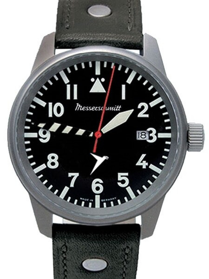 Messerschmitt 41mm Light Weight Titanium Case Pilot's Watch #ME-68Ti