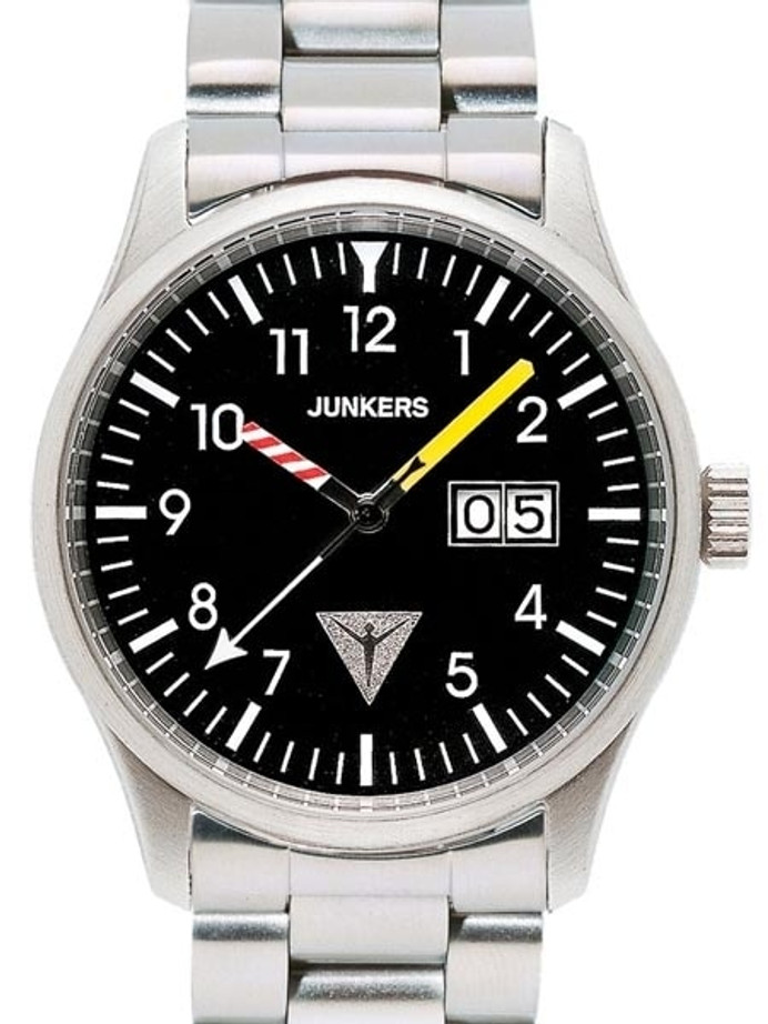 Junkers JU-52 Big Date Watch with Aviator Instrument Style Hands #6262M-2