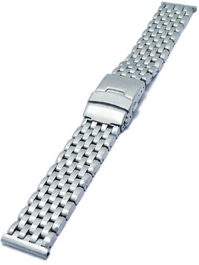 Vollmer Brushed Finish Solid Link Heavy Bracelet #09152H7 (22mm)