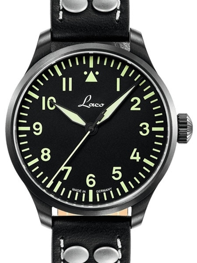 Laco 39mm Altenburg Type A Dial Automatic Pilot Watch with Sapphire Crystal #861991