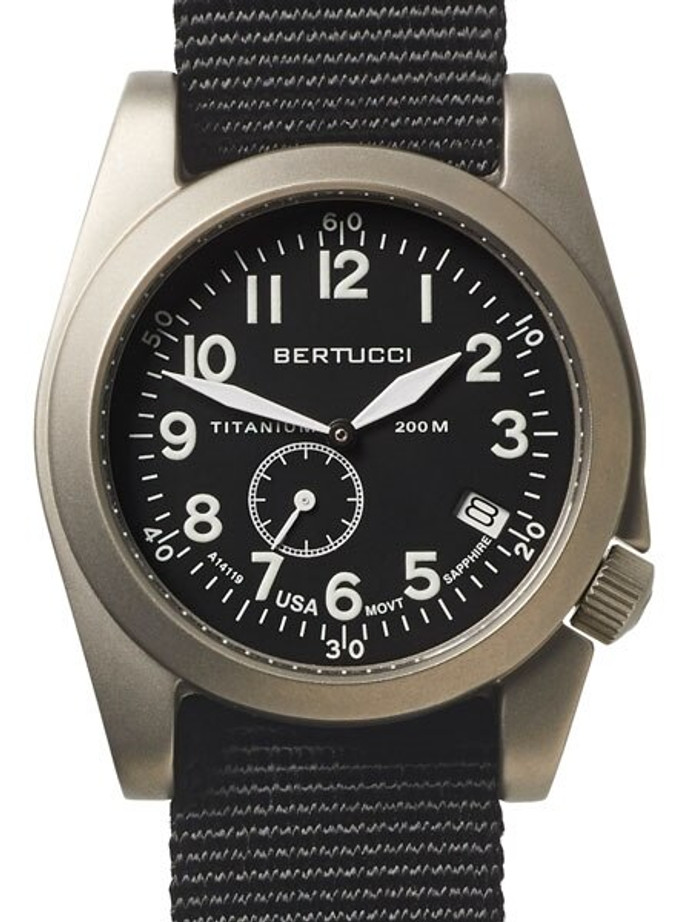 Bertucci  A-11T Americana Titanium Watch with Black Nylon Strap #13333