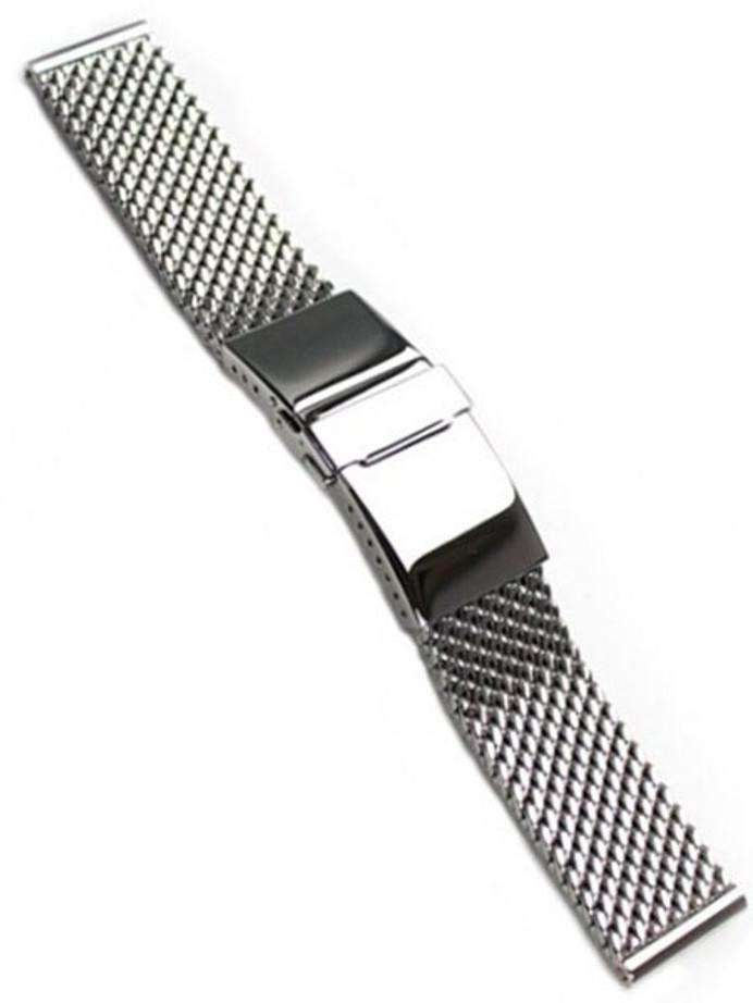 STAIB Polished Mesh Bracelet #STEEL-2784-20703APB-P (Straight End, 20mm)